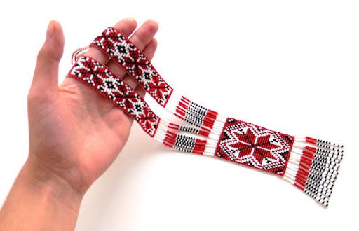 купить украшения из бисера со славянской тематикой