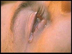 olhos chorou