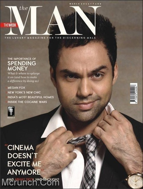Abhay Deol Coverpage The Man Magazine March