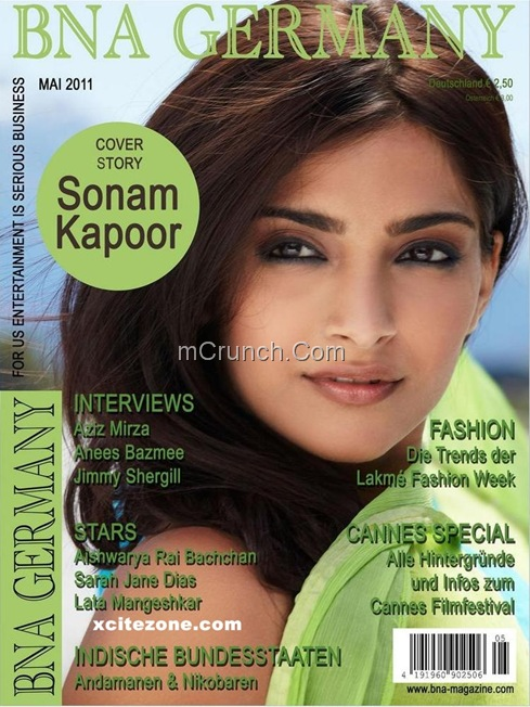 Sonam Kapoor BNA Germany Magazine Coverpage