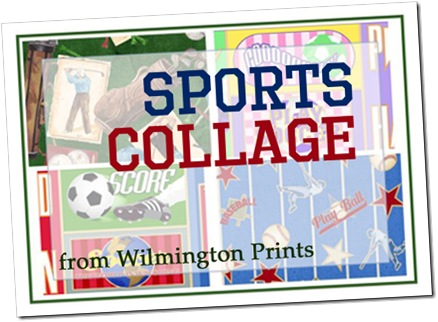Sports Collage from Wilmington Prints
