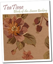 Tea Time Backing Kit