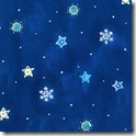 Winter Joy - Small Snowflakes/Stars Blue #221-1