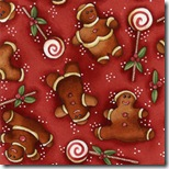 Peppermint Cottage - Gingerbread Men Red #199-1