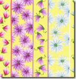 Happy Flowers - Daisy Insect Stripe Yellow #DD25Yellow