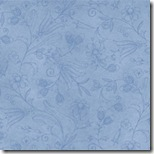Tiny Tailors - Floral Tonal on Blue #21016-B