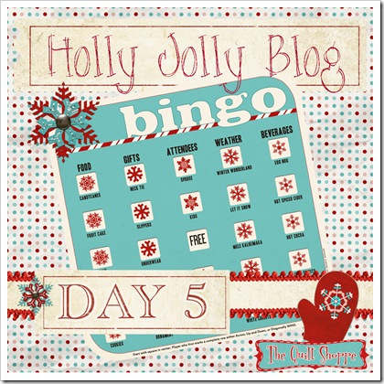Holly Jolly Blog Bingo - Day 5