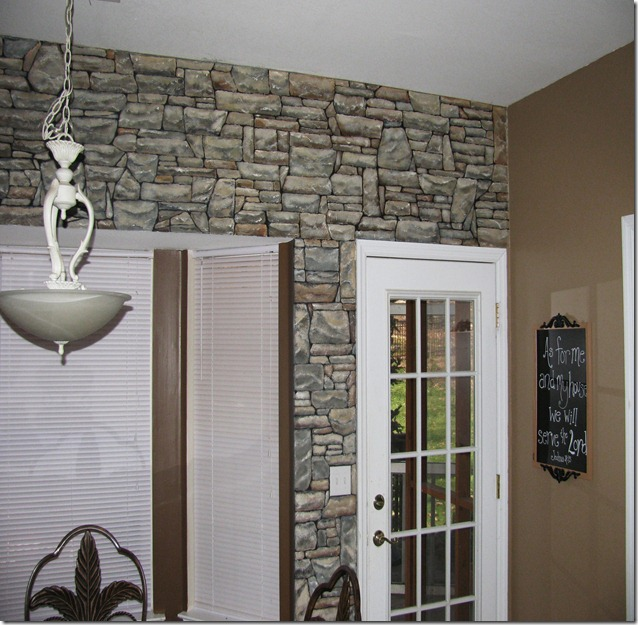 Creative ambitions painted faux stacked stone wall for How to paint faux marble wall