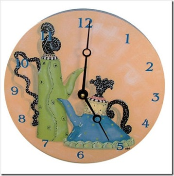 Whimsical Teapots Decorative Wall Clock