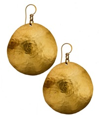 rebecca norman hammered disk earrings