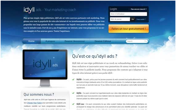 iDyll Ads Tutorial Desain Web dan Template Gratis | Share Creativity™