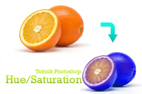 Teknik photoshop hue saturation