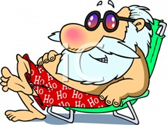 0511-0812-0117-2210_Santa_Relaxing_on_a_Beach_clipart_image