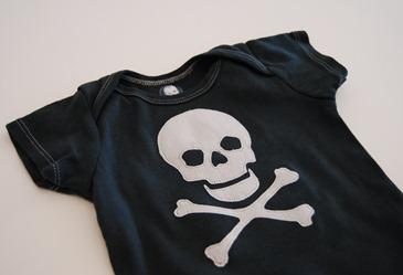 Skull and crossbones applique pattern crap ive made
