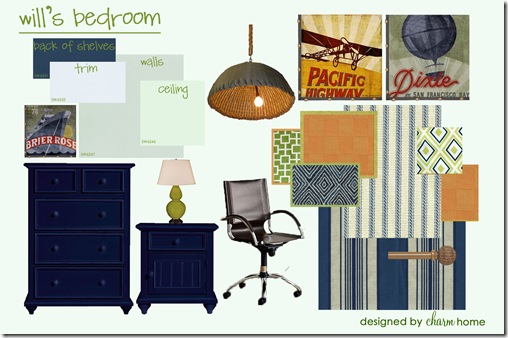 Wills Design Board Orange Blue