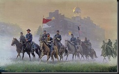Buford's cavalry arrives at Gettysburg