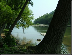 The Shenandoah River near Harper's Ferry