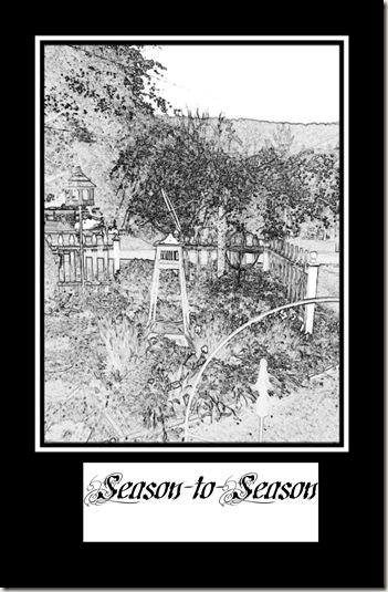 pencil sketch garden