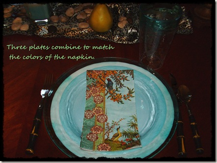 plate and napkin