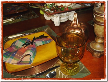 place setting brown