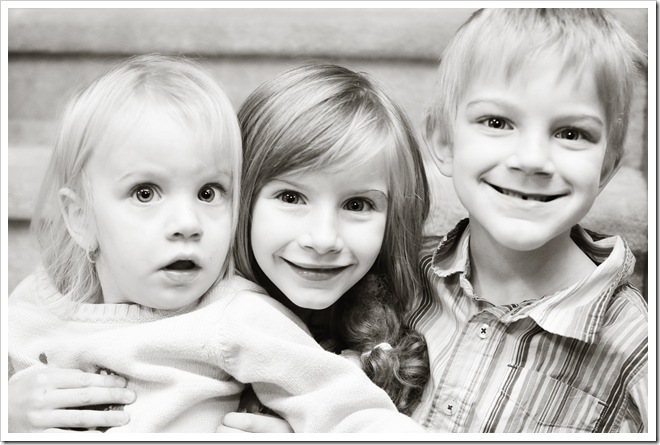 The kids bw