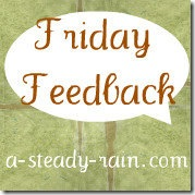 Friday Feedback