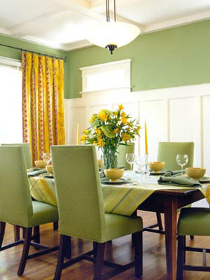 Janeiro 2010 cores da casa for Dining room ideas green