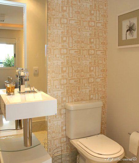 decoracao no lavabo:Espaço pequeno pode, sim, conviver com uma cuba ou bancada