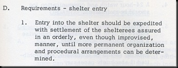 Shelter entry
