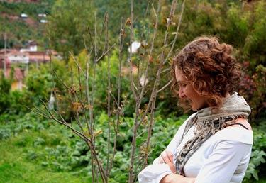 ale en el jardin