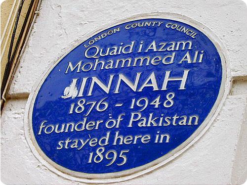 Jinnah's plaque