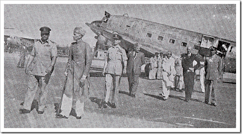 Quaid-e-Azam lands in Peshawar, June 1948