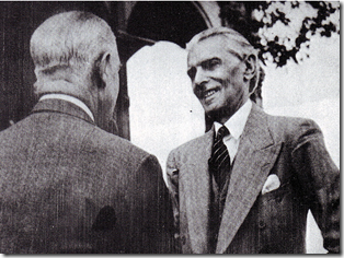 Quaid-e-Azam meeting the Viceroy Lord Wavell in 1946
