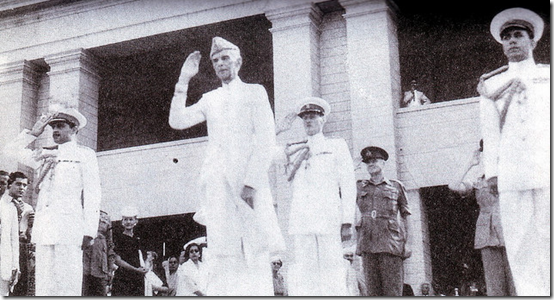 The Founder takes the salute, 14 August 1947