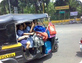 Overcrowded rickshaw