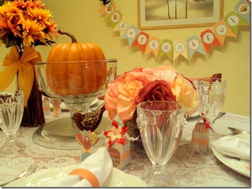 thanksgiving printables dinner table