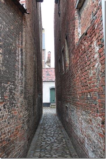 Lier市で一番狭い道(多分)