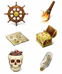 Pirates Theme icon collection