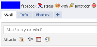 Update Status Facebook Mengunakan Emoticon Tanpa add-on Browser