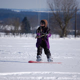 Snowkite 7 mars 2010 dans les Ardennes