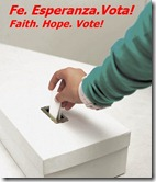 faith hope vote poster