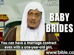 Marriage contract with 1-year-old girl