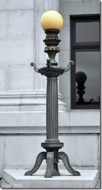 Lamppost in front of the Bank