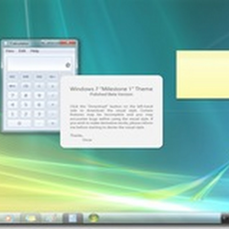 Estilo Visual Windows 7 Milestone 1
