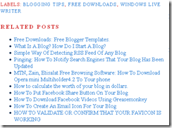 RELATED POSTS BLOGGER