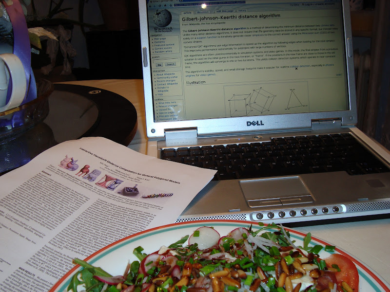 salad, nyu and reading material