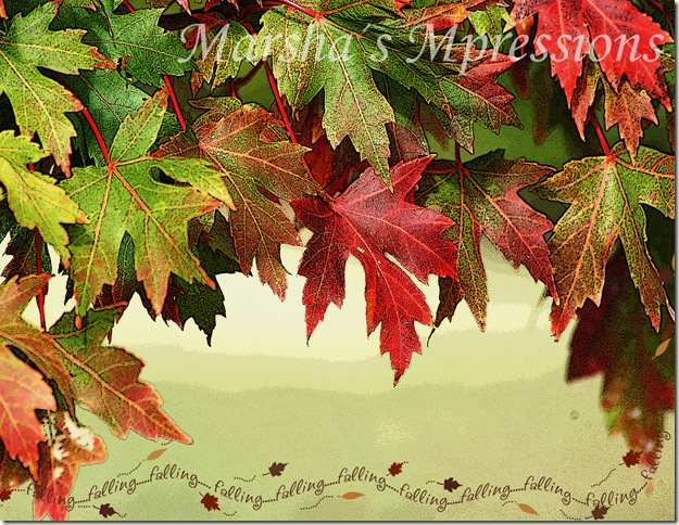 cascade of leaves poster edges copy with falling leaves w watermark