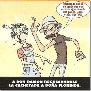 Don Ramon abofeteando a Dña Florinda