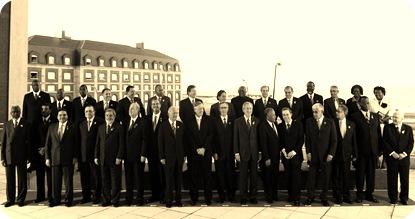 04-11-05 Mar del Plata: Foto Oficial de la IV Cumbre de las Americas.