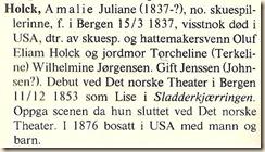 Holck, Amalie Juliane excerp Biografisk Skuespillerleksikon